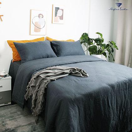 French Linen Bedding - Silver Grey