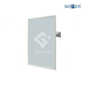 Stainless steel AISI 304 tilting mirror with adjustable angle frame