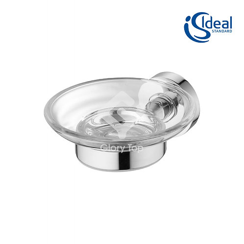 IOM soap dish wall mounted transparent glass/chrome