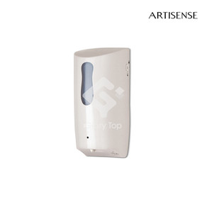 Plastic surface mounted sensor operated liquid soap dispenser 800ml capacity, battery powered, white colour