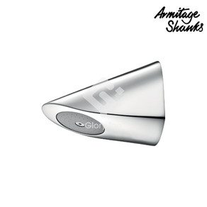Chrome plated anti vandal and anti ligature, concealed shower head, for solid wall installation, demountable for easy cleaning, with WELS Grade 1 label.