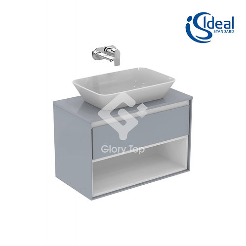 Concept Air Wall Hung Units For Vessel - 1 Drawer and Open Shelf