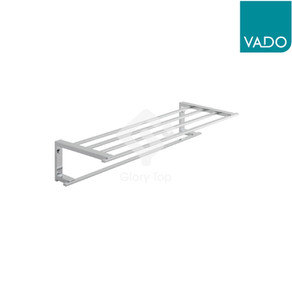 chrome plated surface mounted towel shelf with towel rail
