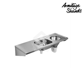 DUHS Grade 316 stainless steel slop hopper sink with sink bowl, back inlet type.