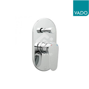 'Ascent' chrome plated concealed type single lever shower mixer, with diverter, 2 outlets