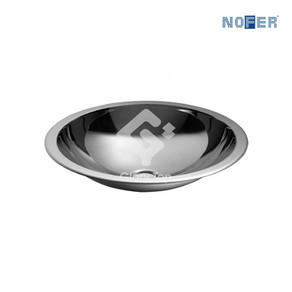 Stainless steel Grade 304 undercounter washbasin without overflow hole