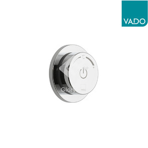 'Sensori SmartDial' chrome plated concealed type smart control digital thermostatic shower mixer with one outlet.