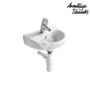 Contour 21 Splash Schools' vitreous china wall hung washbasin with one central taphole, overflow hole, with wall fixing set.