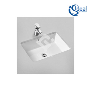 'Strada' vitreous china under counter wash basin with overflow hole