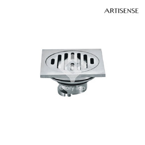 stainless steel rectangular floor drain without trap.