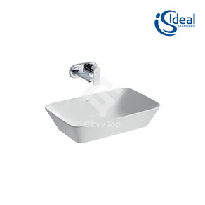 'Concept Air Cube 60cm' vitreous china vessel countertop wash basin without tap hole and overflow hole