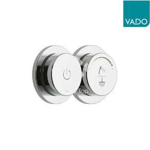 'Sensori SmartDial' chrome plated concealed type smart control thermostatic shower mixer with two outlet.