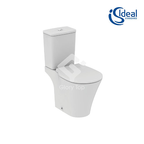Cube close coupled cistern with dual flush valve - 6/4 litre