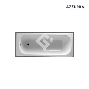 'Cassia' Emanelled press steel drop in type bathtub with chrome plated waste and overflow fittings.