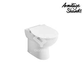 'Contour 21+' vitreous china back-to-wall rimless WC with SmartGuard smooth glaze (anti-microbial properties)