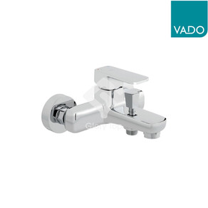 'Metiz' chrome plated exposed type single lever bath and shower mixer.