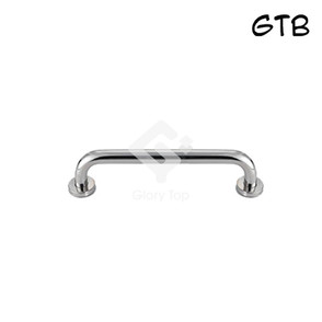 Stainless steel Grade 316 straight grab bar, with concealed rose fixing.