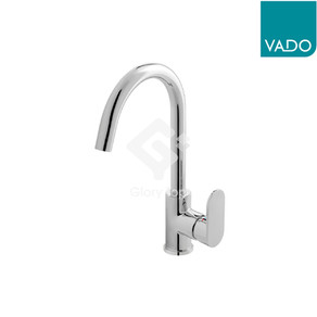 'Metiz' chrome plated deck mounted single lever sink mixer with WELS Grade 2 label, with flexible hoses.