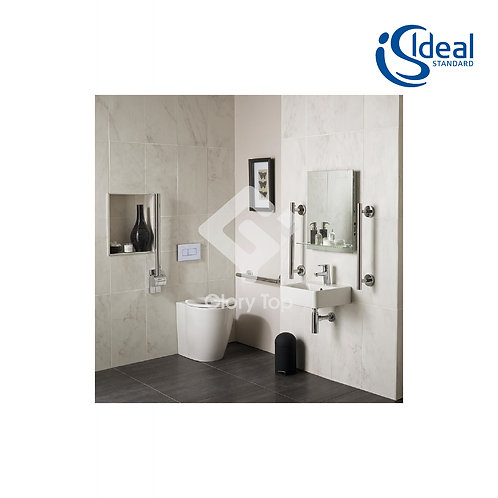 Concept Freedom Ensuite Bathroom Pack with 40cm Basin & Raised Height Standard P