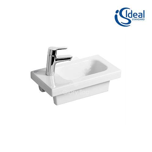 Concept Space 45cm Guest Washbasin 1 LH Taphole Platform With Floor Standing Uni