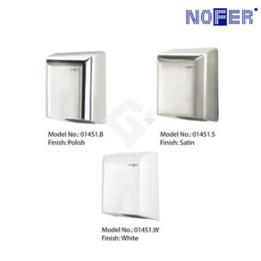 'BIG FLOW' surface mounted automatic hand dryer in steel plate in 1.2mm thick.