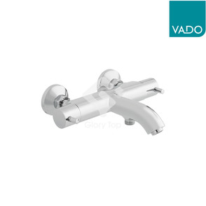 'Celsius' chrome plated exposed type thermostatic bath & shower mixer.