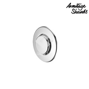 pneumatic finger push button in chrome plated  plastic for 31mm maximum thickness partition