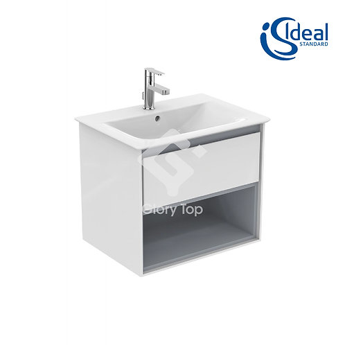 Concept Air Wall Hung Vanity Units - with Drawer and Open Shelf