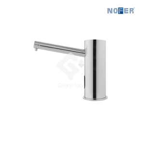 Chrome plated deck mount sensor liquid soap dispenser,1000ml capacity, AC powered with IP68 rating safety transformer.