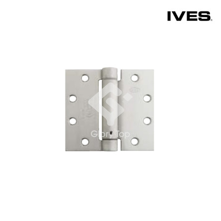 Full mortise single action spring hinge templated drilled, meets ANSI/BHMA A156.7 K51071F, Grade 1 UL listed for use with fire rated doors, Grade 316 s/s/s finish, c/w wood screws