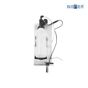 Stainless steel Grade 304 wall mounted sensor operated liquid soap dispenser with vertical spout, 1000ml capacity, AC powered, IP68 class.