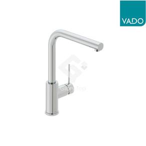 'Camber' chrome plated deck mounted single lever sink mixer with swivel spout, with WELS Grade 1 label, with flexible hoses.