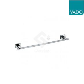chrome plated surface mounted single towel bar.