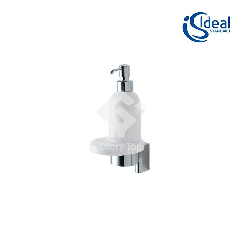 Concept ceramic soap dispenser with holder