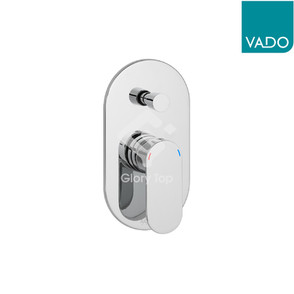 'Metiz' chrome plated concealed type single lever shower mixer, with diverter, 2 outlets.