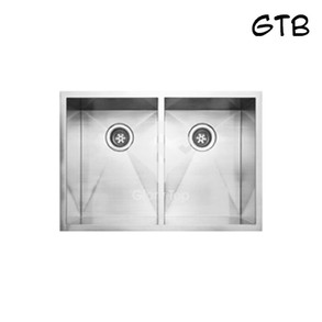 Stainless steel grade 304 tailor made double bowl undermounted sink, c/w waste fittings