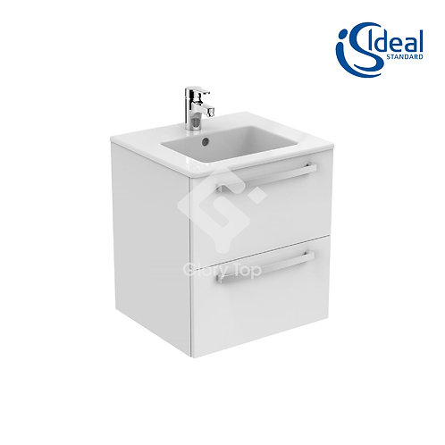 Tempo wall hung 500mm vanity unit with 2 drawers