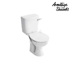 'Sandringham 21' vitreous close coupled washdown WC with side action extended large lever