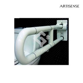 Anti-bacterial ABS coated aluminium core grab bar, with Diamond pattern anti-slip textured grip finish.