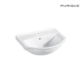 Vitreous china semi-counter basin