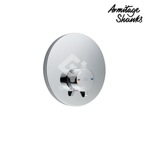 'Avon 21' chrome plated concealed type self-closing push button shower mixer.