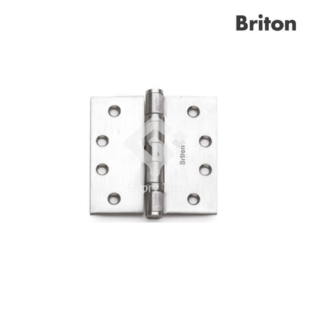 Hinge with 2 ball bearings, EN1935 grade 14, classification code 4-7-7-0-1-4-0-14, door with max 160kg, CE marked, tested to BSEN1634-1 for GMS door for 120min,  passed 240 hours neutral salt spray test, Grade 304 s/s/s finish, c/w wooden door screws.