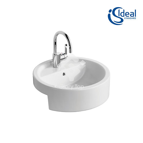 White 45cm Semi-Countertop Washbasin