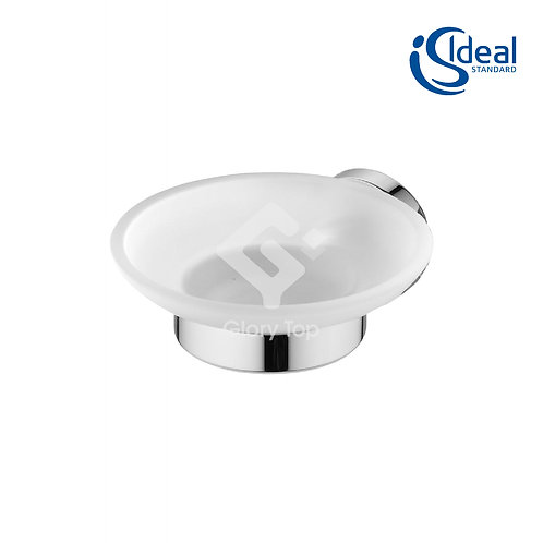 IOM Soap Dish Wall Mounted Frosted Glass