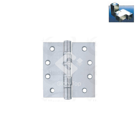 Butt hinge with 4 ball bearings, templated drilled, Grade 304 s/s/s finish, c/w wood screws.