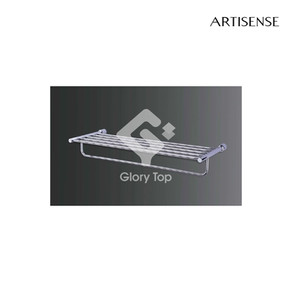 Chrome plated towel rack with single bar.