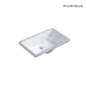 Vitreous china undercounter washbasin with overflow hole