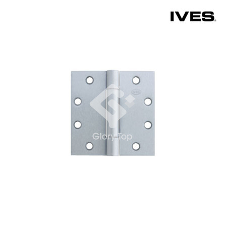 3 knuckle full mortise concealed bearing hinge,  meets ANSI/BHMA A156.1 Grade 2 (A5112), Grade 316 stainless steel satin finish, c/w wooden door screws and machine screws.