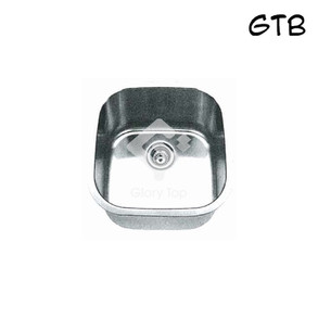 Stainless steel undermounted type single bowl sink with waste fittings