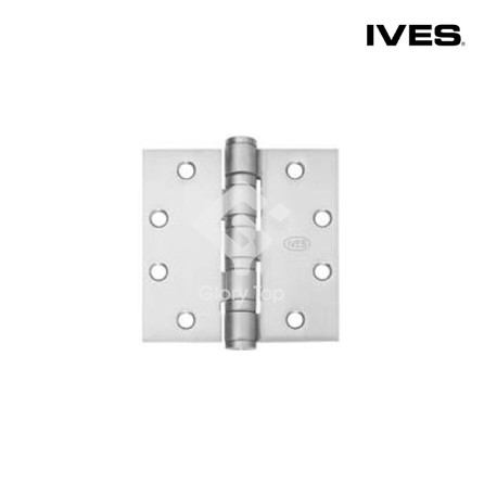 Electronic butt hinge, 4 ball bearings, Anti-Ligature Hospital Tip design, 8 wires, non-removable pin, ANSI/BHMA A156.1 Grade 1 (A5111), EN1634-1:2014 for 120 mins fire rating Grade 316 stainless steel satin finish, c/w wooden door screws & machine screws.